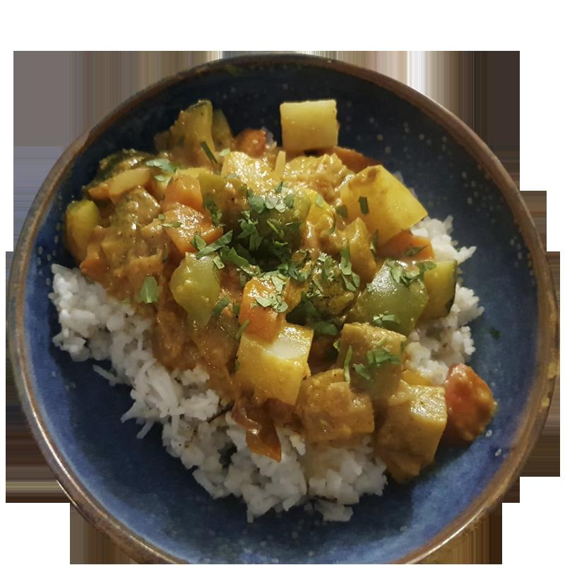 curry vegano